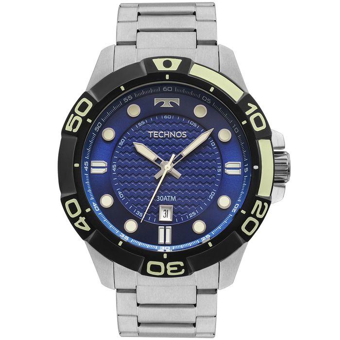 e153ece2872 Relógio Technos Masculino Performance Acqua Prata - 2315KZQ 0A - technos