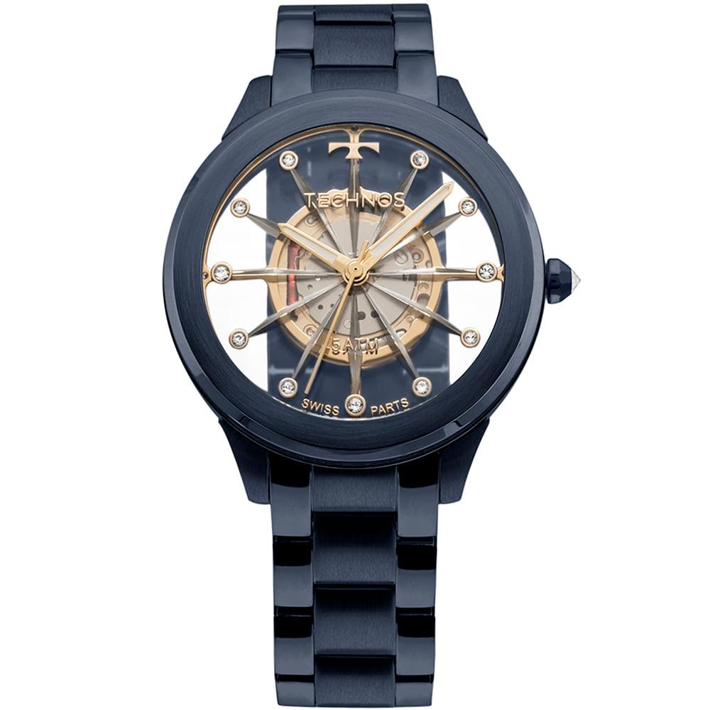 d76a093c96c Relógio Technos Feminino Elegance Crystal Azul - F03101AD 4W ...
