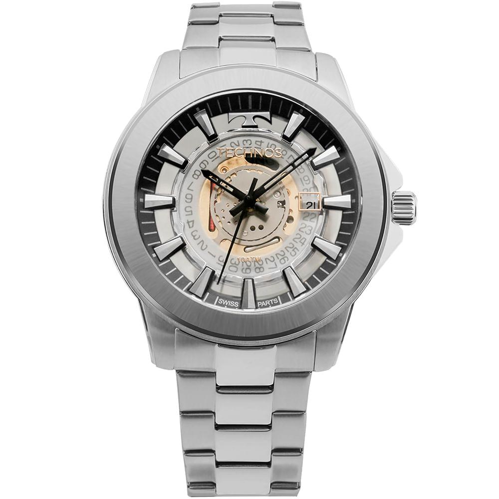 7d842815cd4 Relógio Technos Masculino Classic Legacy Prata - F06111AB 1W ...