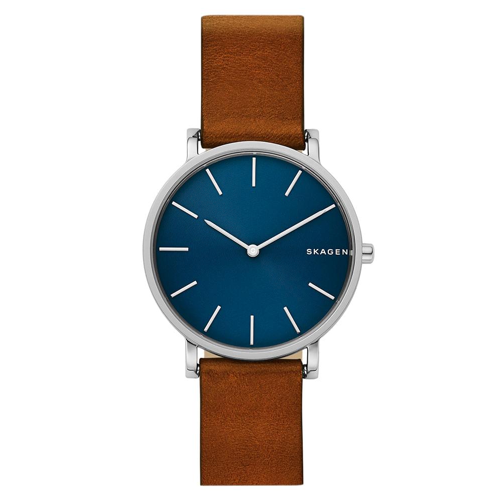 dfb9e371f43a9 Relógio Skagen Masculino Gents Hagen Marrom - SKW6446 0MN - timecenter