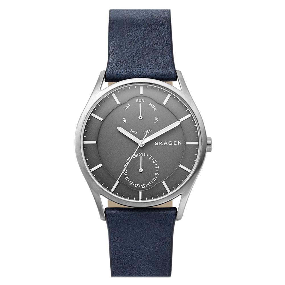8d2b61aeaa780 Relógio Skagen Masculino Gents Holst Azul - SKW6448 0AN - timecenter