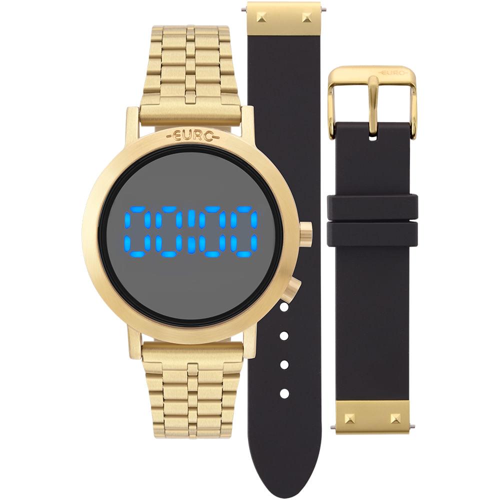 Relógio Euro Feminino Fashion Fit Dourado - EUBJ3407AA T4P - timecenter a3a3b470e6
