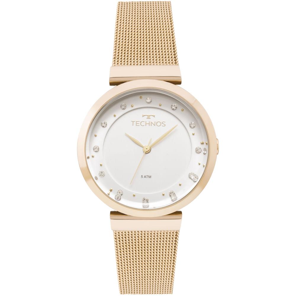 b253af351f9aa 2035MMX4X. 2035MMX4X. Technos. Relógio Technos Feminino Crystal Dourado ...