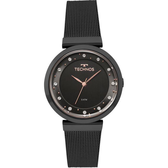 Relógio Technos Feminino Crystal Preto - 2035MMY 4P - technos af127b3fa8