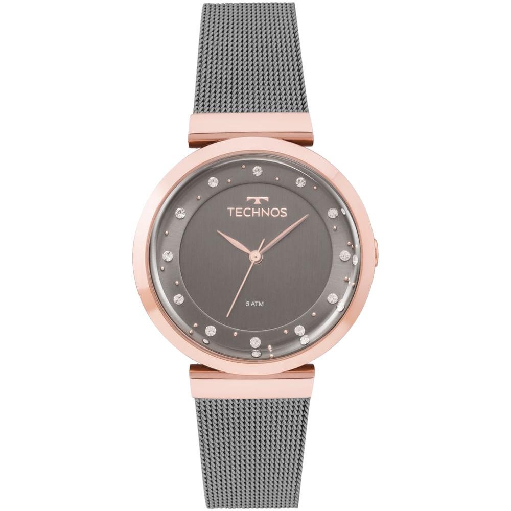 Relógio Technos Feminino Crystal Bicolor - 2035MMW 4C - timecenter 0d3c502733