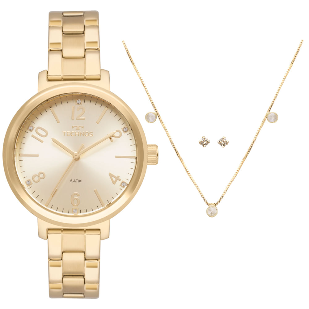 3b75d841556 Relógio Technos Feminino Trend Dourado - timecenter