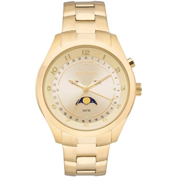 Relógio Technos Calendário Lunar Feminino Dourado - 6P80AA 4X a75226e0d0