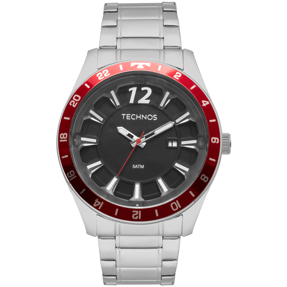 Relógio Technos Masculino Racer Prata - 2117LAR 1P - timecenter b95ebced4f