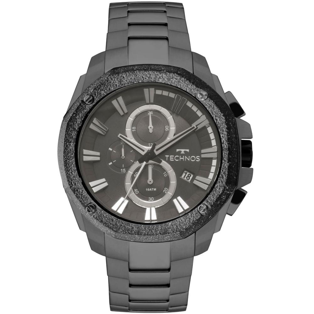 Relógio Technos Masculino Legacy Grafite - JS16AA 4C - timecenter 94b06dc4b5