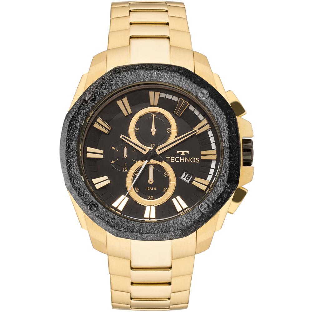 Relógio Technos Masculino Legacy Dourado - JS16AB 4P - timecenter 70aa3ced40