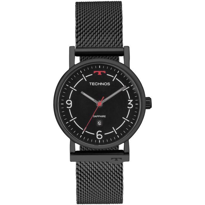 f8c4059f24071 Relógio Technos Unissex Slim Preto - 9U13AA 4P - technos