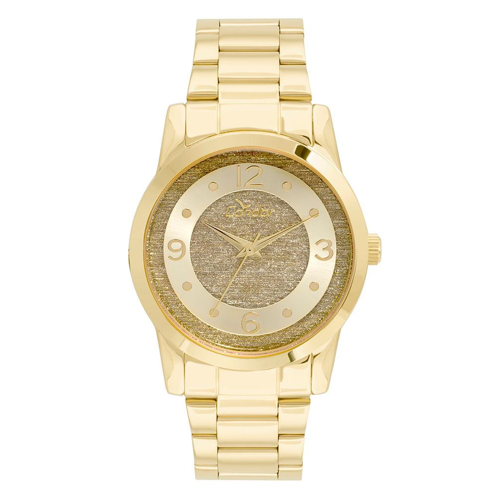 0f1325ec7dd2e Relógio Condor Feminino Glitter Dourado - CO2039AN 4D - timecenter