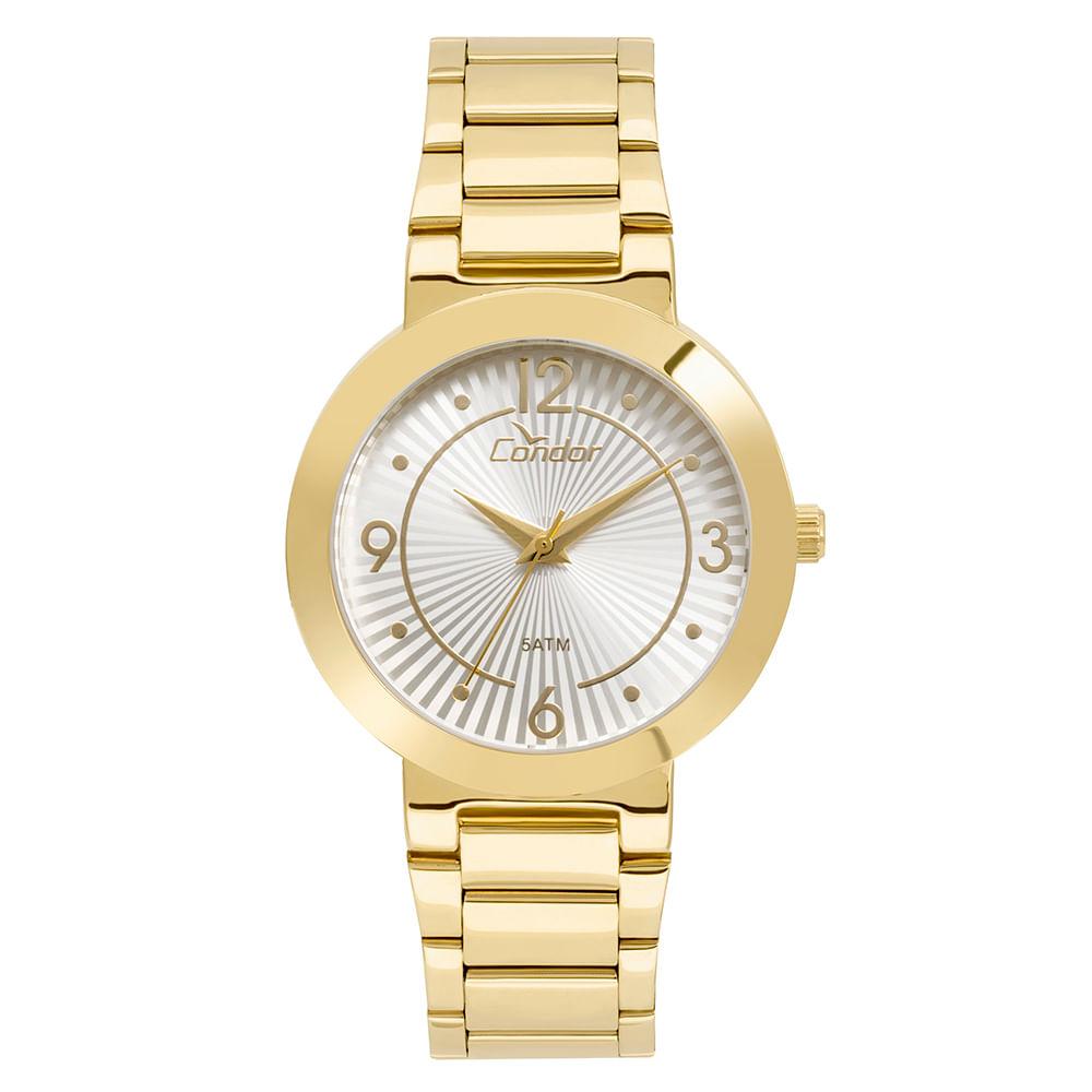 22df3ddf5bb1c Relógio Condor Feminino Bracelete Dourado - CO2035KVQ K4B - timecenter