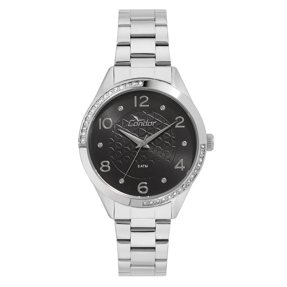 73c1b313e32 Relógio Condor Feminino Bracelete Prata - CO2035KVZ 3P - condor