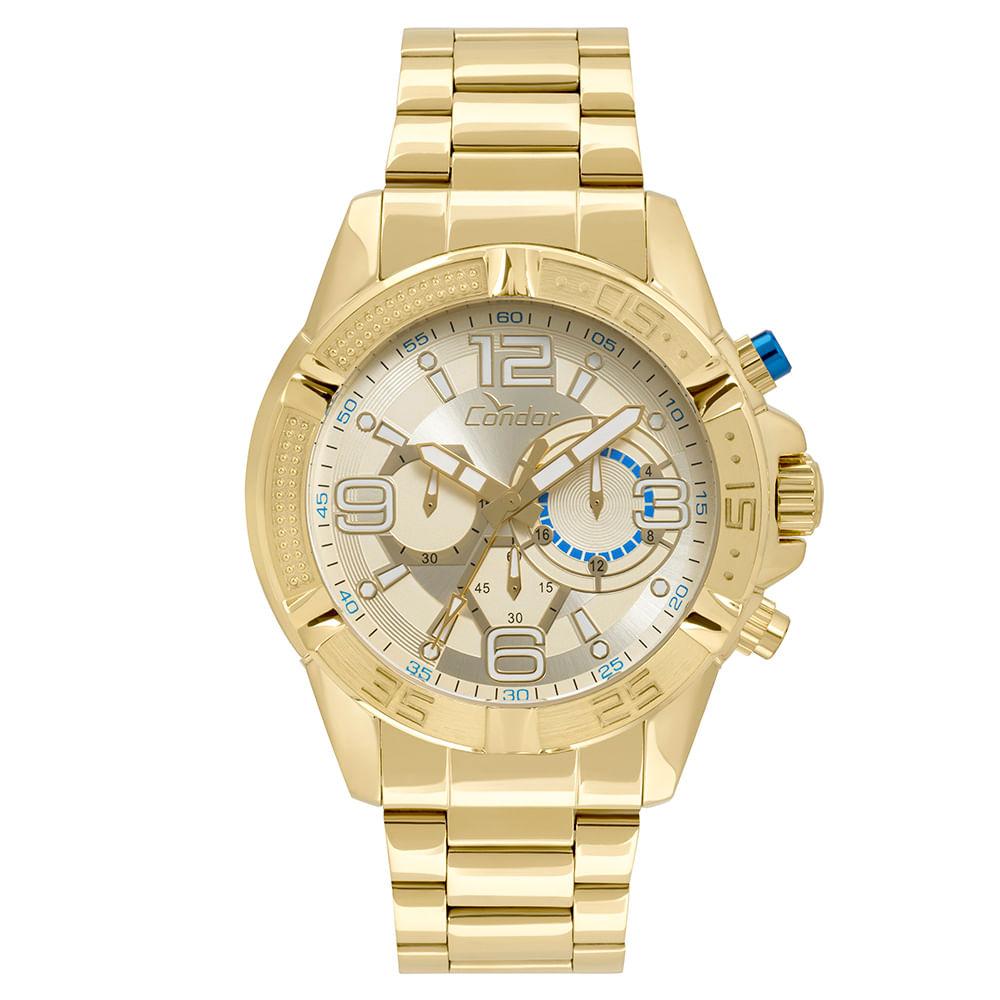 Relógio Condor Masculino Ferragens Dourado - COVD54AU 4D - timecenter 097f3d2a99
