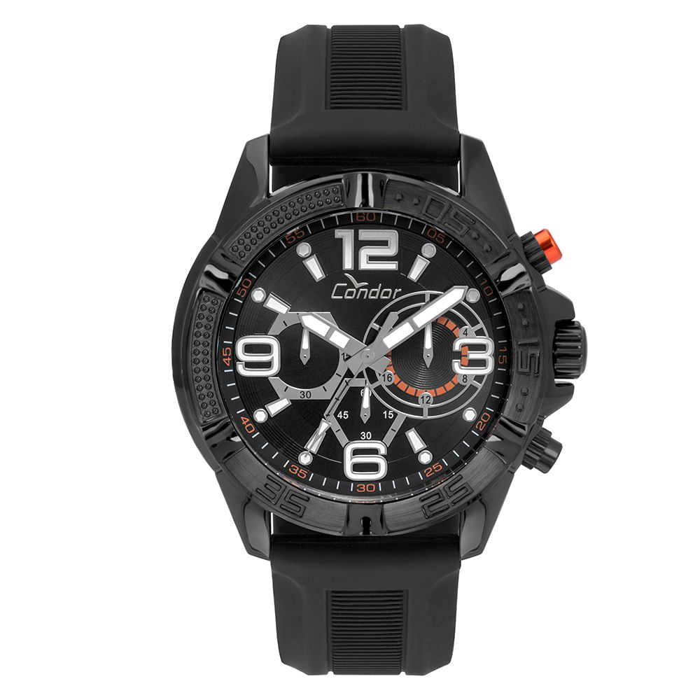5fddf761ada Relógio Condor Masculino Ferragens Preto - COVD54AVUL 8P - timecenter