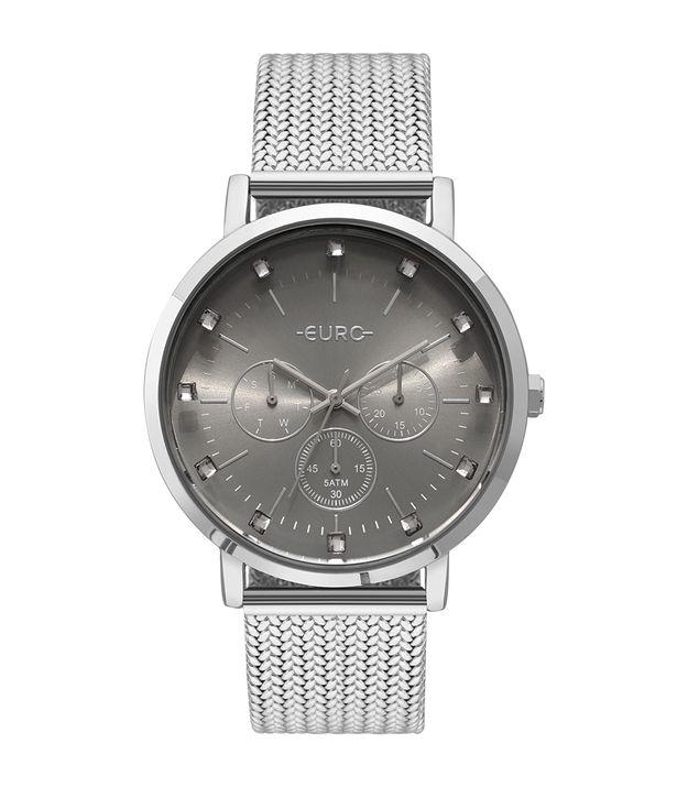 4b4e4cbb187 Relógio Euro Feminino Spike Illusion Prata - EUVD75AB 3K