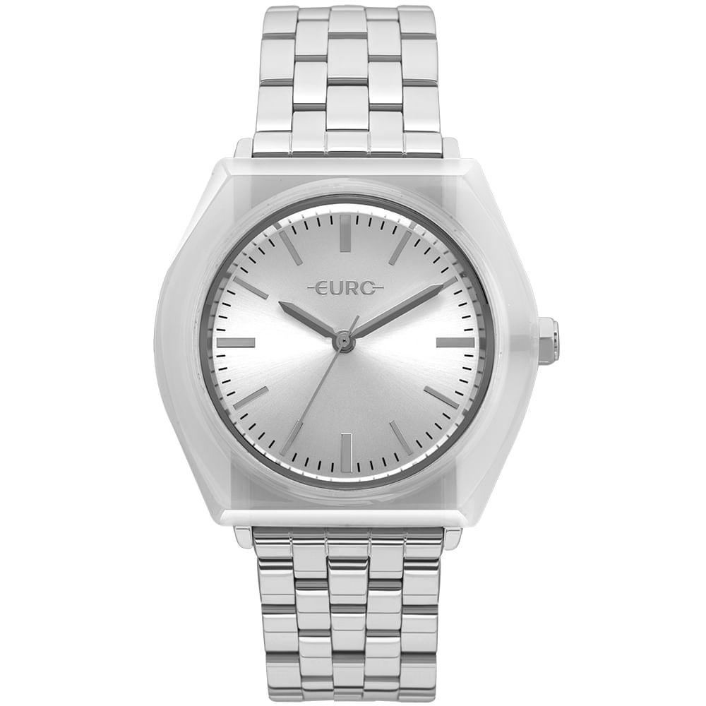 34b04bae9a Relógio Euro Feminino Acetato Hit Prata - EU2035YNA 5K - Tempo de ...