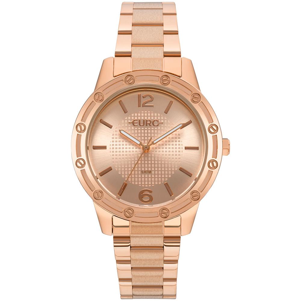 Relógio Euro Feminino Texturas Rosé - EU2035YNC 4J - timecenter 54f5ae8057