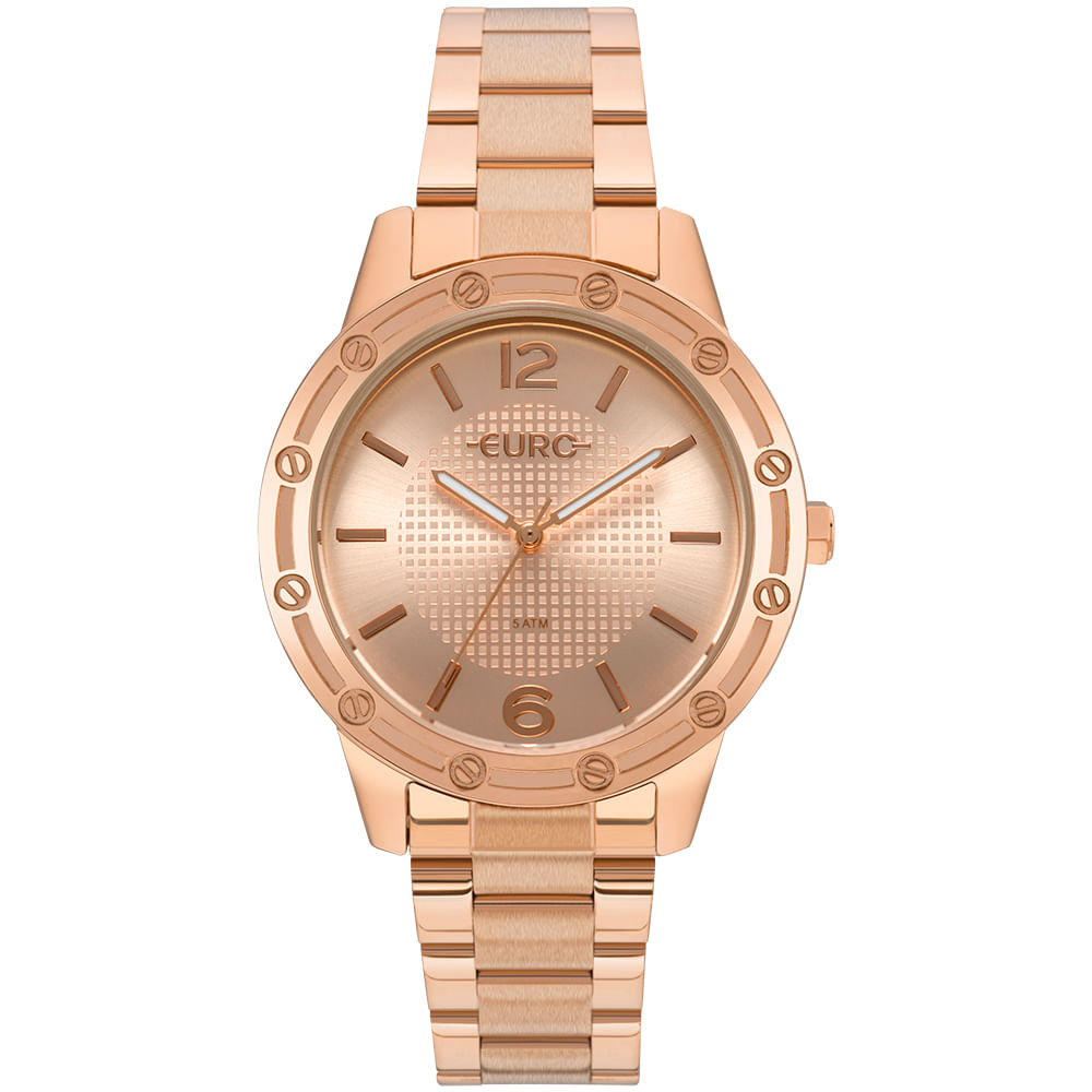 Relógio Euro Feminino Texturas Rosé - EU2035YNC/4J
