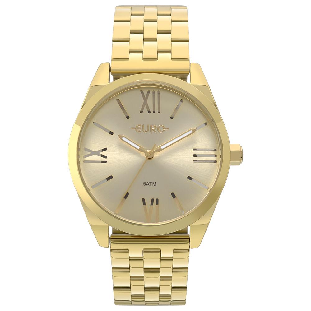 Relógio Euro Feminino Recortes Dourado - EU2035YNG 4P - timecenter 3502a93e23