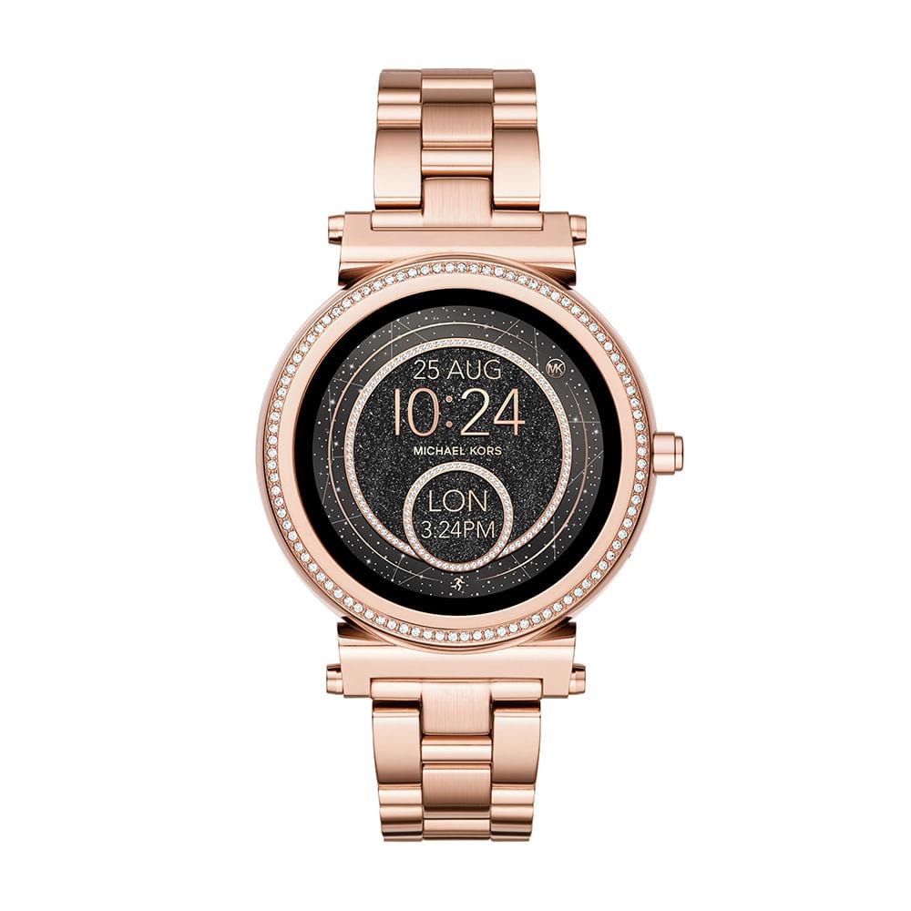 44dee3def5d21 Smartwatch Michael Kors Feminino Sofie Rosé - timecenter