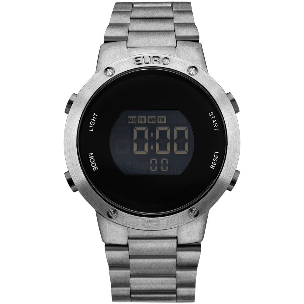 EUBJ3279AE4K  EUBJ3279AE4K  EUBJ3279AE4K. Euro. Relógio Feminino Fashion Fit  EUBJ3279AE 4K - Prata c79c1d0d5c