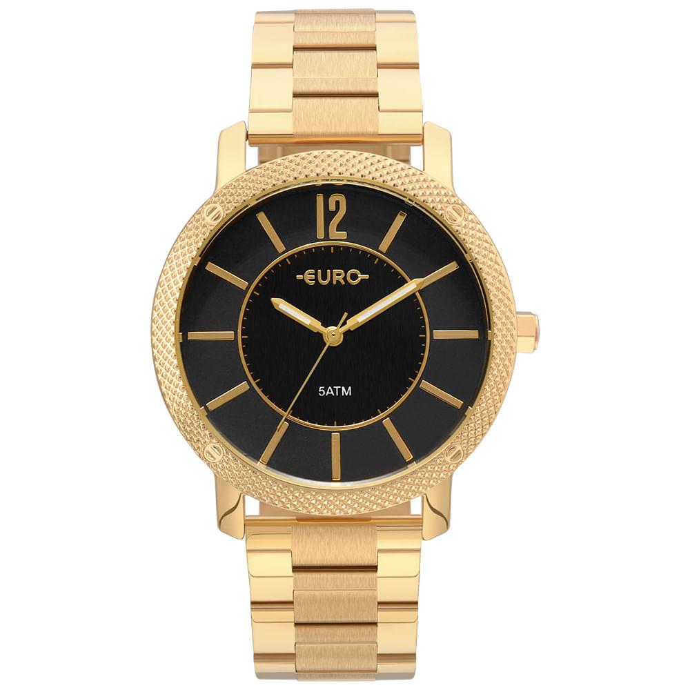 ae357559b89 Relógio Euro Feminino Texturas Dourado - EU2036YMG 4P - timecenter