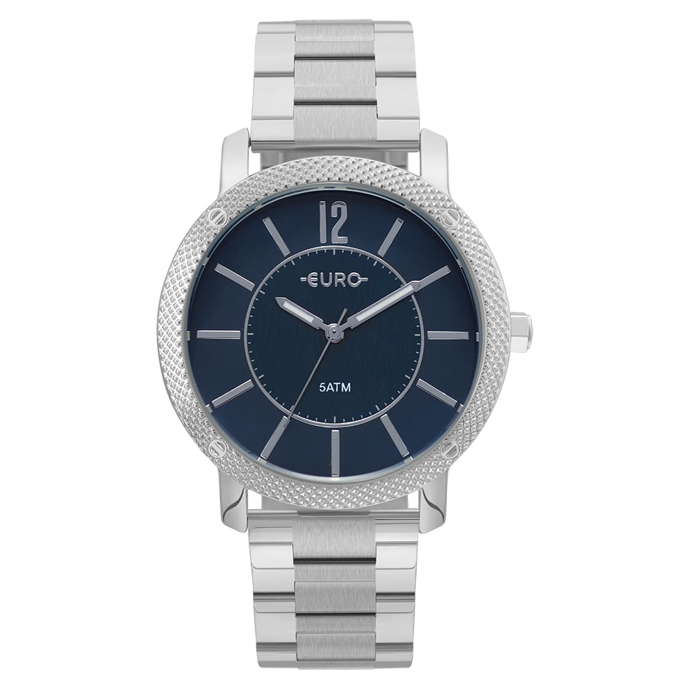 Relógio Euro Feminino Texturas Prata - EU2036YMI 3A - timecenter 573125bd7b