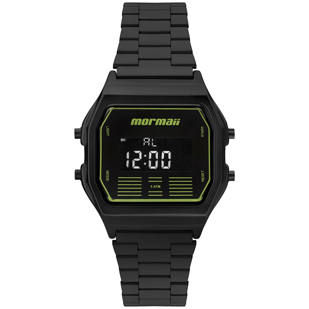 3ab6793f0d5 Relógio Mormaii Unissex Vintage Preto - MOBJ3715A 4P - timecenter