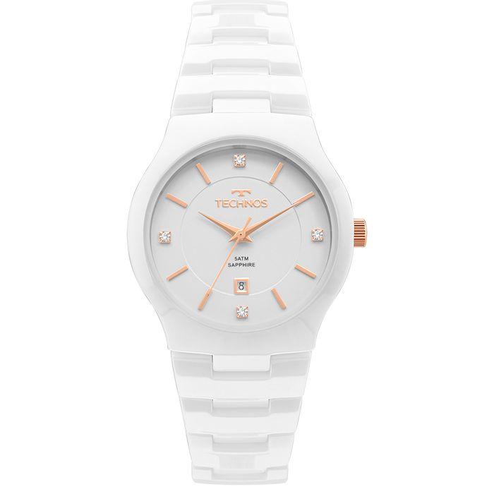 Relógio Technos Feminino Ceramic Branco - GN10AV 4B - technos 2565105bac
