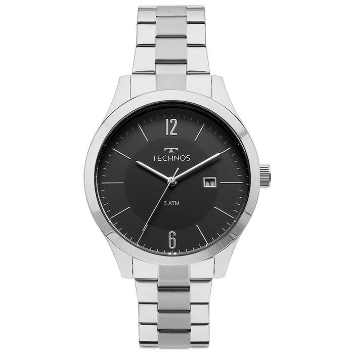 Relógio Technos Masculino Steel Prata - 2115MOT 1P - technos 3385d7807c