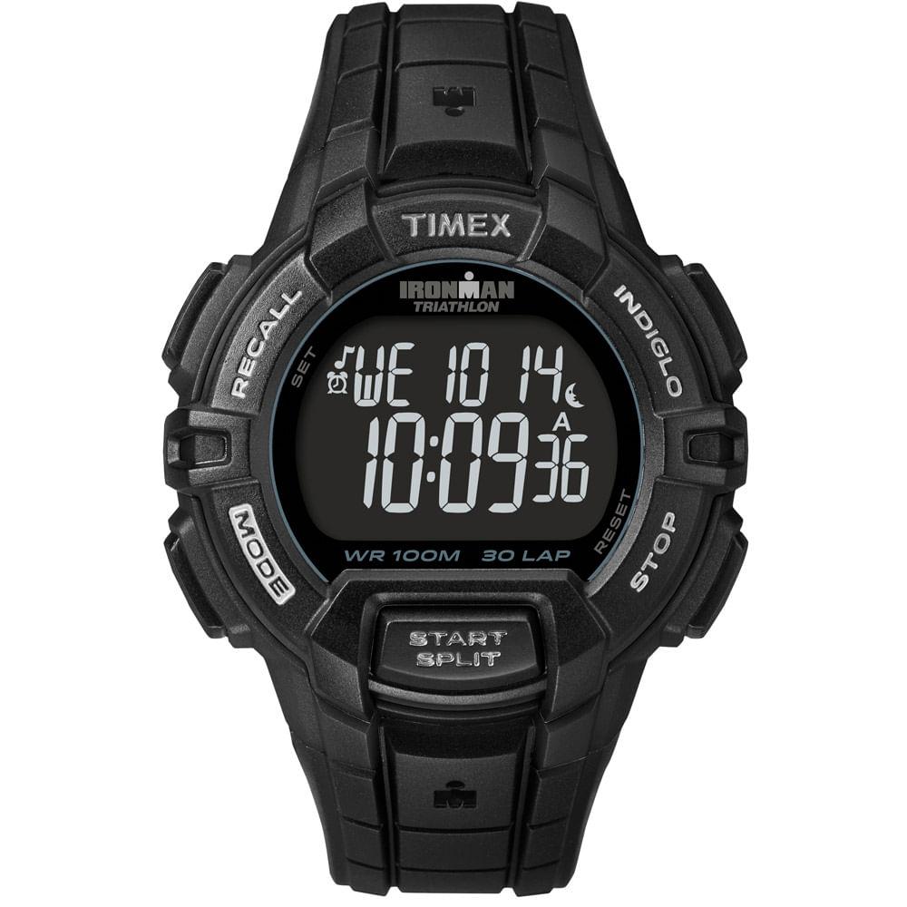 7f553be907f6f Relógio Timex Masculino Ironman Preto- T5K793WW TN - timecenter