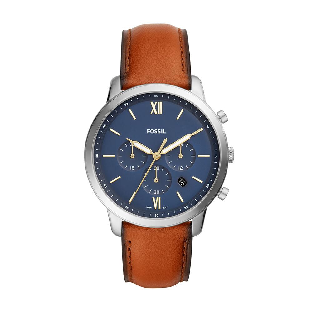 Relógio Fossil Masculino Neutra Chrono Prata - timecenter 33645d1ac9