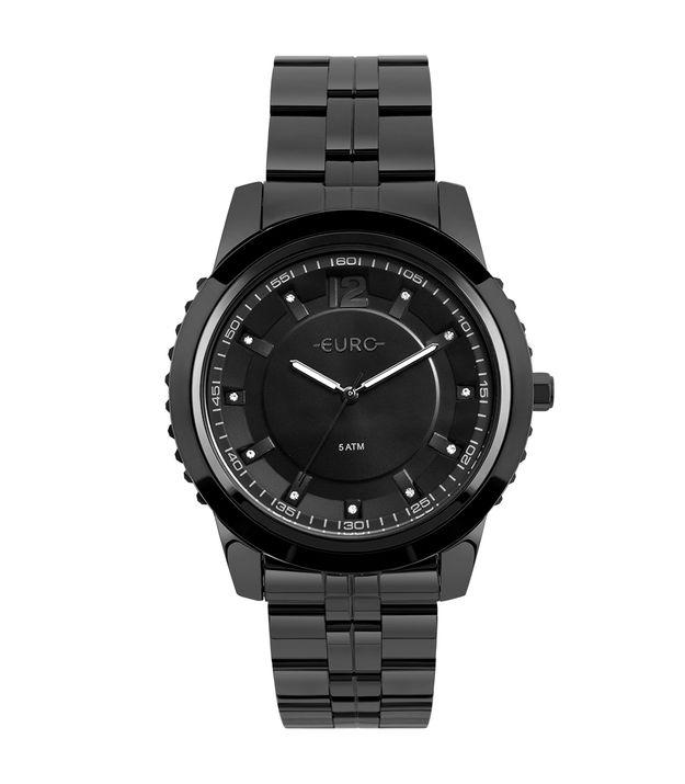 Relógio Euro Feminino Metal Glam Preto - EU2035YOF 4P c698728b84
