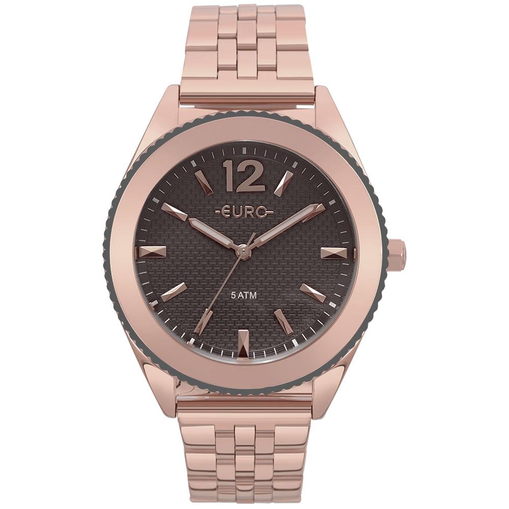 b4cdee821b765 Relógio Euro Feminino Metal Trendy Rosé - timecenter