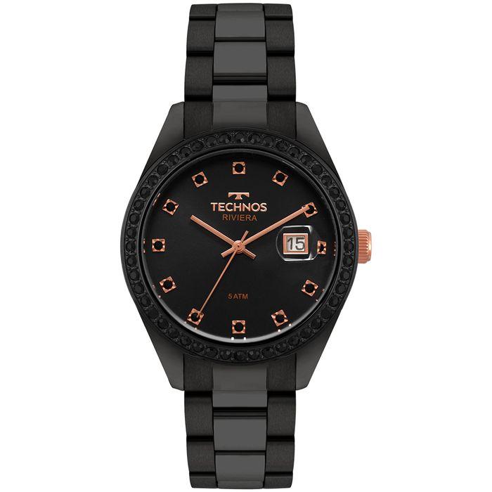 Relógio Technos Feminino Riviera Preto - 2115moj 4p - technos 3ee0d8a8cd