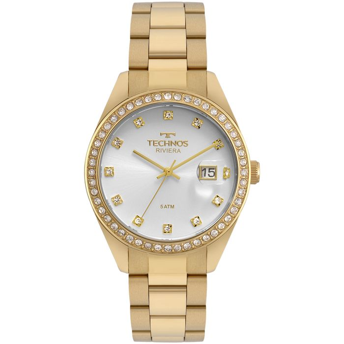 7bcf4e2e12f62 Relógio Technos Feminino Riviera Dourado - technos