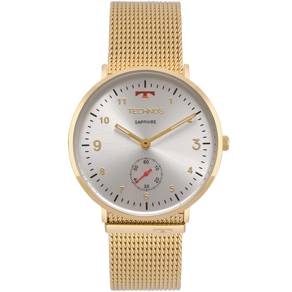 700ff7fb4594f Relógio Technos Unissex Slim Dourado - timecenter