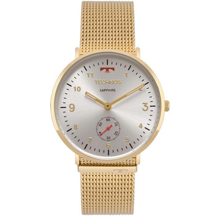 Relógio Technos Unissex Slim Dourado - technos 88fc1309b5