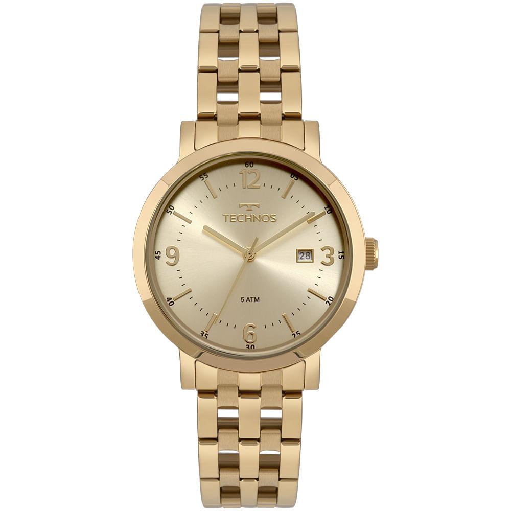 c56e24afe5a 2115MPG4X. 2115MPG4X. Technos. Relógio Technos Feminino Dress Dourado ...