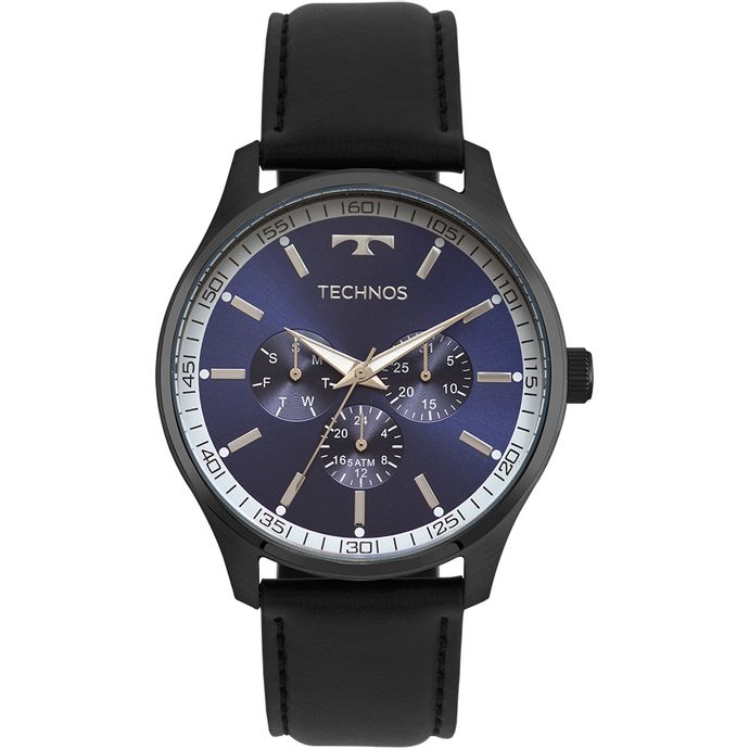 Relógio Technos Masculino Steel Preto - 6P29AJP 2A 54127a10b9
