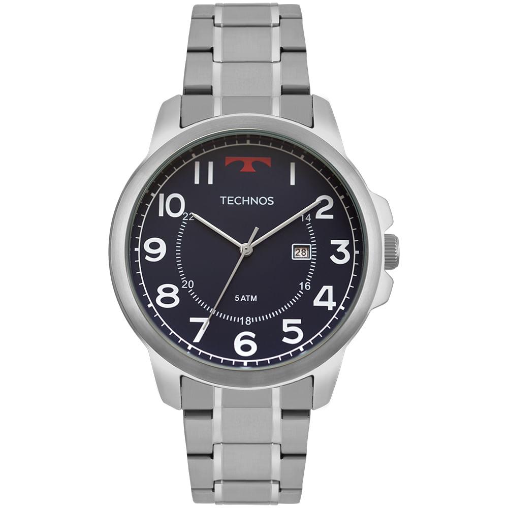 2115MOZ1A. 2115MOZ1A. Technos. Relógio Technos Masculino Steel Prata ... e5dc50c950