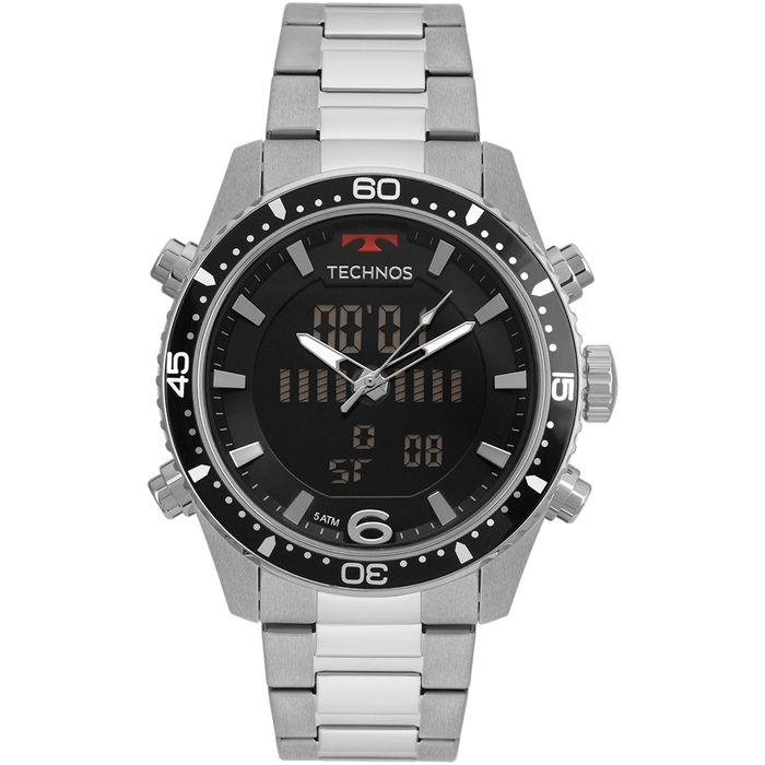 399378a2ade Relógio Technos Masculino Ts Digiana Prata - technos