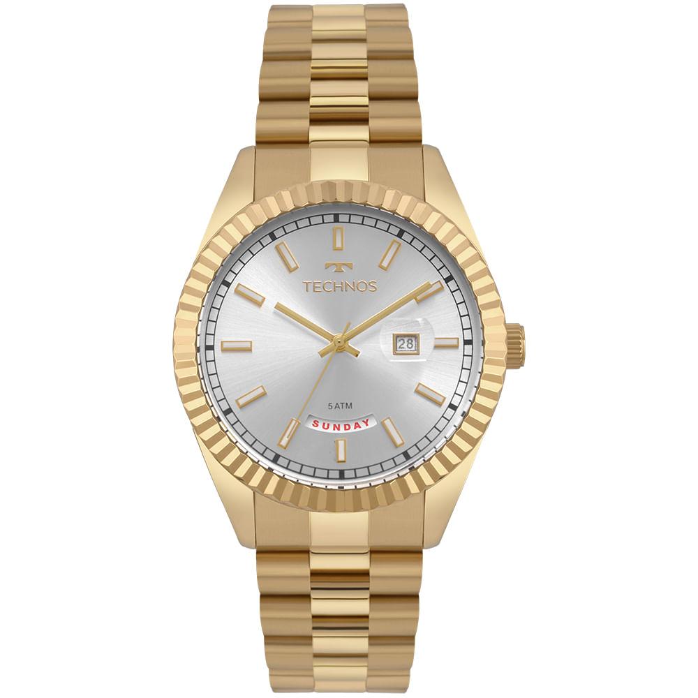 3ceaf83e63a -28%. 2350AD4X. 2350AD4X. Technos. Relógio Technos Masculino Riviera Dourado  ...