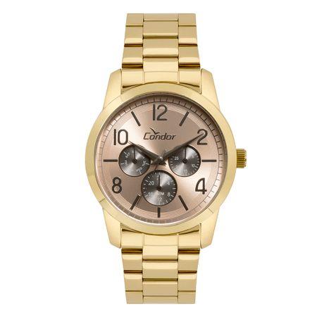 9246cae9cc4c0 Relógio Condor Feminino Bracelete Dourado - CO6P29II 4J