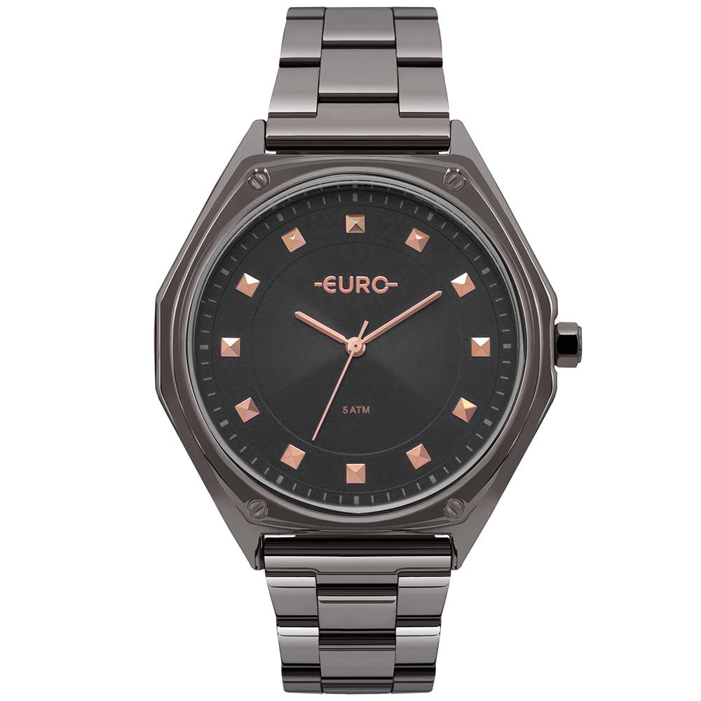 Relógio Euro Feminino Spike Geométrico Grafite - EU2035YOP 4C ... 0726a39f29