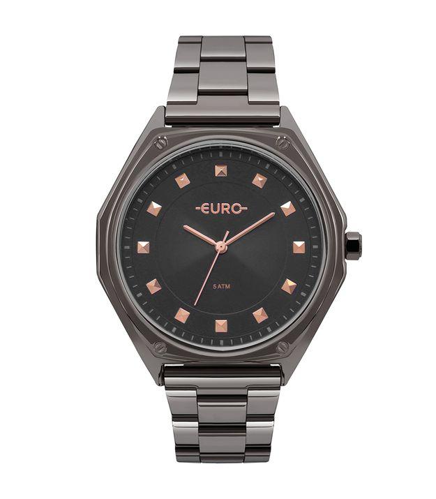 Relógio Euro Feminino Spike Geométrico Grafite - EU2035YOP 4C 88ed27fc0f