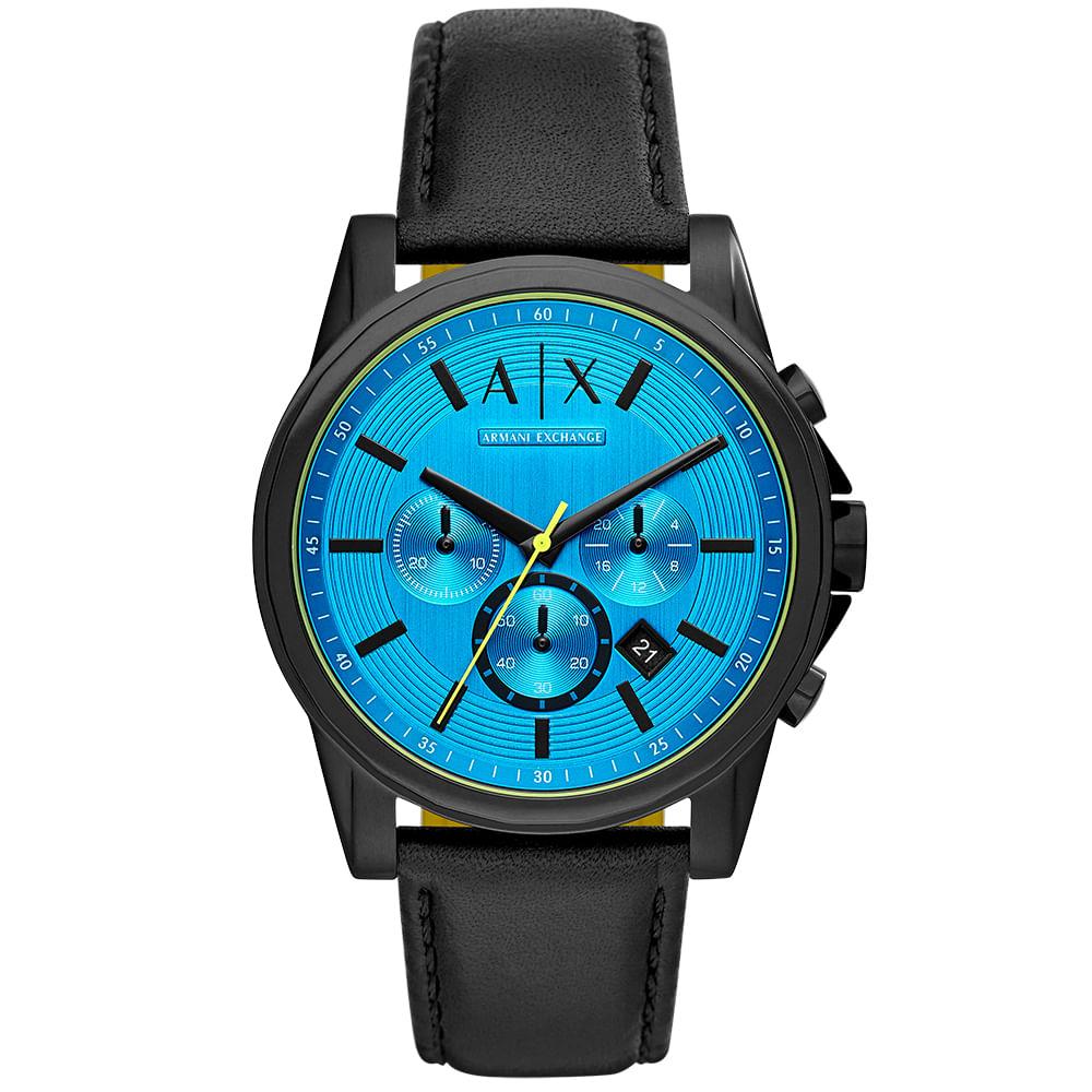 c3821082f68 Relógio Armani Exchange Masculino Outerbanks Preto - timecenter