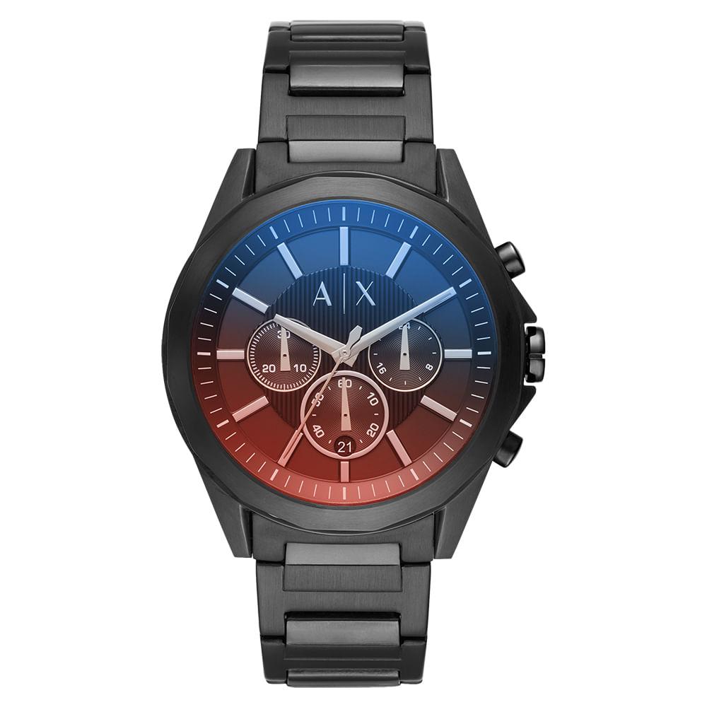 e9388a9cd7a Relógio Armani Exchange Masculino Drexler Grafite - timecenter